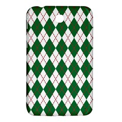 Plaid Triangle Line Wave Chevron Green Red White Beauty Argyle Samsung Galaxy Tab 3 (7 ) P3200 Hardshell Case  by Alisyart