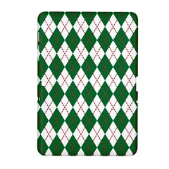 Plaid Triangle Line Wave Chevron Green Red White Beauty Argyle Samsung Galaxy Tab 2 (10 1 ) P5100 Hardshell Case  by Alisyart