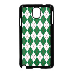 Plaid Triangle Line Wave Chevron Green Red White Beauty Argyle Samsung Galaxy Note 3 Neo Hardshell Case (black)