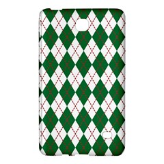 Plaid Triangle Line Wave Chevron Green Red White Beauty Argyle Samsung Galaxy Tab 4 (7 ) Hardshell Case  by Alisyart