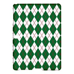 Plaid Triangle Line Wave Chevron Green Red White Beauty Argyle Samsung Galaxy Tab S (10 5 ) Hardshell Case  by Alisyart