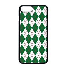 Plaid Triangle Line Wave Chevron Green Red White Beauty Argyle Apple Iphone 7 Plus Seamless Case (black) by Alisyart