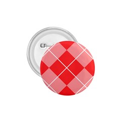 Plaid Triangle Line Wave Chevron Red White Beauty Argyle 1 75  Buttons by Alisyart