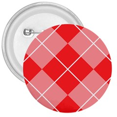 Plaid Triangle Line Wave Chevron Red White Beauty Argyle 3  Buttons by Alisyart