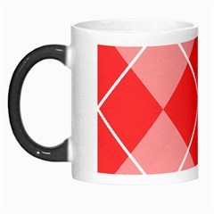 Plaid Triangle Line Wave Chevron Red White Beauty Argyle Morph Mugs