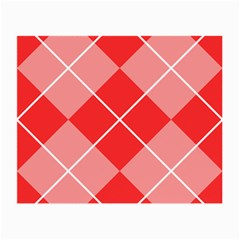Plaid Triangle Line Wave Chevron Red White Beauty Argyle Small Glasses Cloth by Alisyart