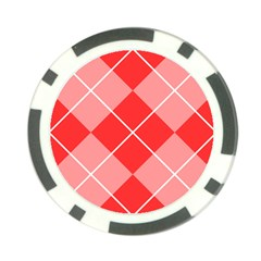 Plaid Triangle Line Wave Chevron Red White Beauty Argyle Poker Chip Card Guard (10 Pack) by Alisyart