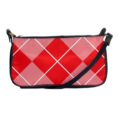 Plaid Triangle Line Wave Chevron Red White Beauty Argyle Shoulder Clutch Bags by Alisyart