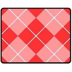 Plaid Triangle Line Wave Chevron Red White Beauty Argyle Fleece Blanket (medium)