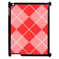 Plaid Triangle Line Wave Chevron Red White Beauty Argyle Apple Ipad 2 Case (black)
