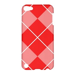 Plaid Triangle Line Wave Chevron Red White Beauty Argyle Apple Ipod Touch 5 Hardshell Case