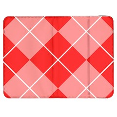 Plaid Triangle Line Wave Chevron Red White Beauty Argyle Samsung Galaxy Tab 7  P1000 Flip Case