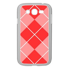 Plaid Triangle Line Wave Chevron Red White Beauty Argyle Samsung Galaxy Grand Duos I9082 Case (white) by Alisyart