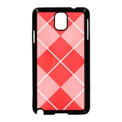 Plaid Triangle Line Wave Chevron Red White Beauty Argyle Samsung Galaxy Note 3 Neo Hardshell Case (black)
