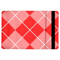 Plaid Triangle Line Wave Chevron Red White Beauty Argyle Ipad Air 2 Flip by Alisyart