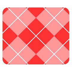 Plaid Triangle Line Wave Chevron Red White Beauty Argyle Double Sided Flano Blanket (small)  by Alisyart