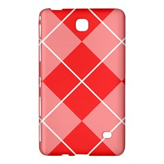 Plaid Triangle Line Wave Chevron Red White Beauty Argyle Samsung Galaxy Tab 4 (7 ) Hardshell Case  by Alisyart