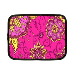 Pink Lemonade Flower Floral Rose Sunflower Leaf Star Pink Netbook Case (small)  by Alisyart