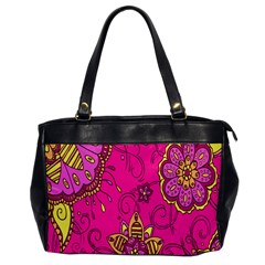 Pink Lemonade Flower Floral Rose Sunflower Leaf Star Pink Office Handbags by Alisyart