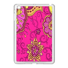 Pink Lemonade Flower Floral Rose Sunflower Leaf Star Pink Apple Ipad Mini Case (white) by Alisyart