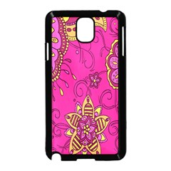 Pink Lemonade Flower Floral Rose Sunflower Leaf Star Pink Samsung Galaxy Note 3 Neo Hardshell Case (black)