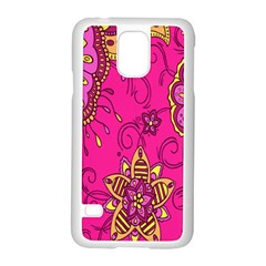 Pink Lemonade Flower Floral Rose Sunflower Leaf Star Pink Samsung Galaxy S5 Case (white)