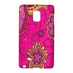 Pink Lemonade Flower Floral Rose Sunflower Leaf Star Pink Galaxy Note Edge by Alisyart