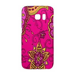 Pink Lemonade Flower Floral Rose Sunflower Leaf Star Pink Galaxy S6 Edge by Alisyart