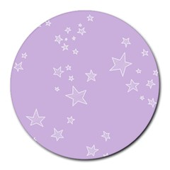 Star Lavender Purple Space Round Mousepads by Alisyart