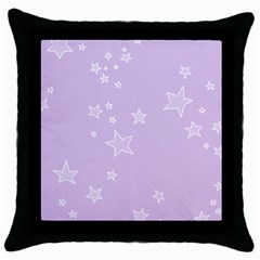 Star Lavender Purple Space Throw Pillow Case (black)
