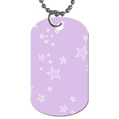 Star Lavender Purple Space Dog Tag (one Side)