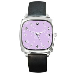 Star Lavender Purple Space Square Metal Watch