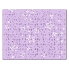 Star Lavender Purple Space Rectangular Jigsaw Puzzl by Alisyart