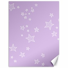 Star Lavender Purple Space Canvas 18  X 24   by Alisyart