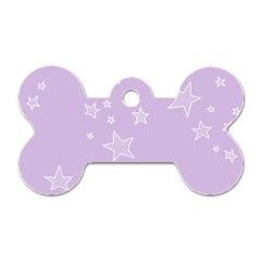 Star Lavender Purple Space Dog Tag Bone (one Side) by Alisyart