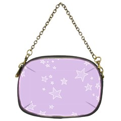 Star Lavender Purple Space Chain Purses (two Sides)  by Alisyart