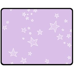 Star Lavender Purple Space Fleece Blanket (medium)  by Alisyart