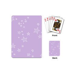 Star Lavender Purple Space Playing Cards (mini)  by Alisyart
