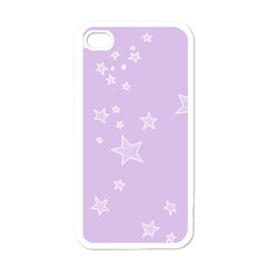 Star Lavender Purple Space Apple Iphone 4 Case (white) by Alisyart