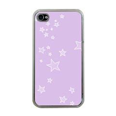 Star Lavender Purple Space Apple Iphone 4 Case (clear) by Alisyart