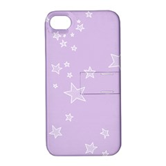Star Lavender Purple Space Apple Iphone 4/4s Hardshell Case With Stand by Alisyart