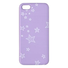 Star Lavender Purple Space Apple Iphone 5 Premium Hardshell Case by Alisyart
