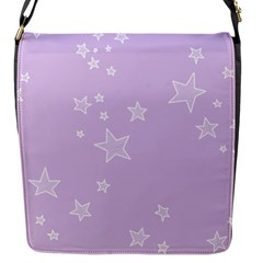 Star Lavender Purple Space Flap Messenger Bag (s) by Alisyart