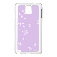 Star Lavender Purple Space Samsung Galaxy Note 3 N9005 Case (white) by Alisyart