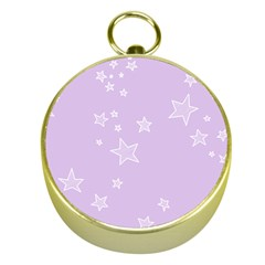 Star Lavender Purple Space Gold Compasses