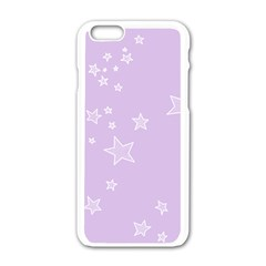 Star Lavender Purple Space Apple Iphone 6/6s White Enamel Case by Alisyart