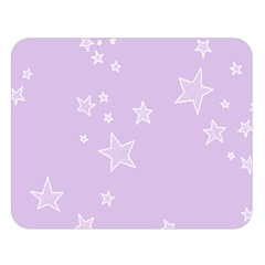 Star Lavender Purple Space Double Sided Flano Blanket (large)