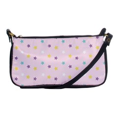 Star Rainbow Coror Purple Gold White Blue Shoulder Clutch Bags by Alisyart