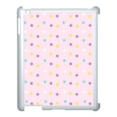 Star Rainbow Coror Purple Gold White Blue Apple Ipad 3/4 Case (white)