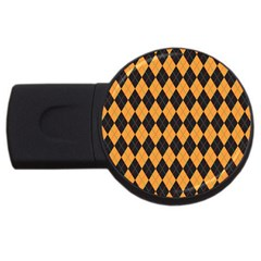 Plaid Triangle Line Wave Chevron Yellow Red Blue Orange Black Beauty Argyle Usb Flash Drive Round (4 Gb) by Alisyart